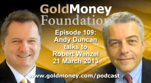 Robert Wenzel GoldMoney podcast